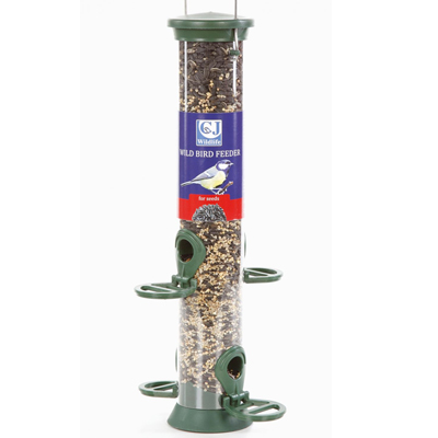 CJ Plastic Seed Feeder (Green) 4 Perches
