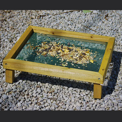 Wooden Ground Feeder Tray Large Rectangle