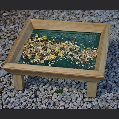 Wooden Ground Feeder Tray Large Sq